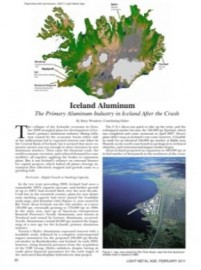 Iceland Aluminum: The Primary Aluminum Industry in Iceland After the Crash