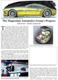 The Magnesium Automotive Group's Progress, Interview: Earle Canavan