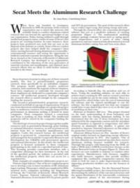 Secat Meets the Aluminum Research Challenge