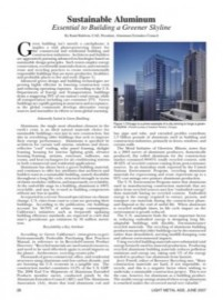 Sustainable Aluminum: Essential to Building a Greener Skyline