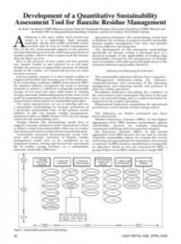 Development of a Quantitative Assessment Tool for Bauxite Residue Management