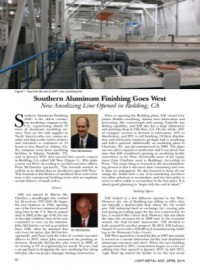 Southern Aluminum Finishing Goes West: New Anodizing Line Opened in Redding, CA