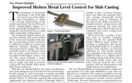 FREE-New Product Spotlight: Improved Molten Metal Level Control for Slab Casting