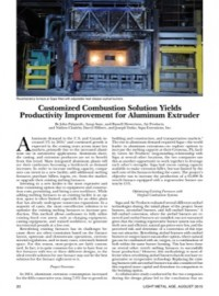 Customized Combustion Solution Yields Productivity Improvement for Aluminum Extruder