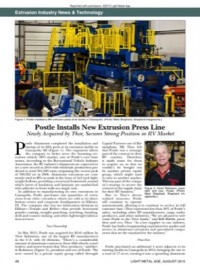 Extrusion Industry News & Technology: Postle Installs New Extrusion Press Line
