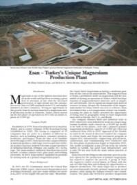 Esan – Turkey's Unique Magnesium Production Plant