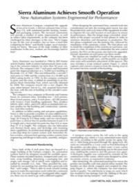 Sierra Aluminum Achieves Smooth Operation: New Automation Systems Engineered for Performance