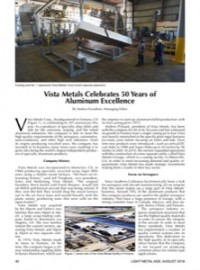 Vista Metals Celebrates 50 Years of Aluminum Excellence