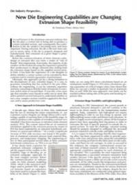 Die Industry Perspective: New Die Engineering Capabilities are Changing Extrusion Shape Feasibility