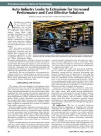 Extrusion Industry News & Technology: Auto Industry Looks to Extrusions for Increased Performance and Cost-Effective Solutions