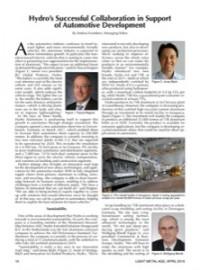 Hydro's Successful Collaboration in Support of Automotive Development