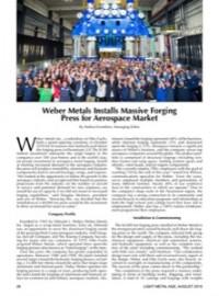 Weber Metals Installs Massive Forging Press for Aerospace Market