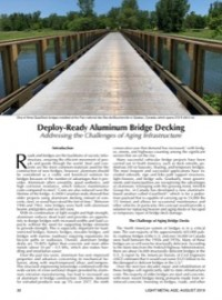 Deploy-Ready Aluminum Bridge Decking: Addressing the Challenges of Aging Infrastructure