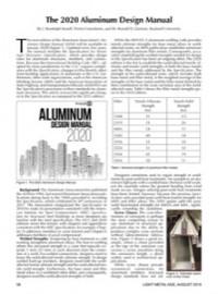 The 2020 Aluminum Design Manual