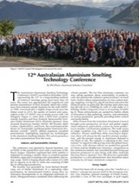 12th Australasian Aluminium Smelting Technology Conference