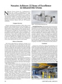 Novatec Achieves 25 Years of Excellence in Infrared Die Ovens