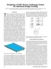 Designing a Traffic Barrier Anchorage System for Aluminum Bridge Decking