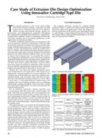 Case Study of Extrusion Die Design Optimization Using Innovative Cartridge Type Die