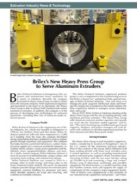 Extrusion Industry News & Technology: Brilex's New Heavy Press Group to Serve Aluminum Extruders