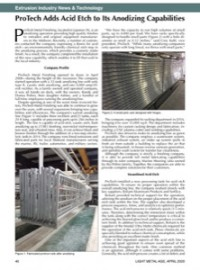 Extrusion Industry News & Technology: ProTech Adds Acid Etch to Its Anodizing Capabilities