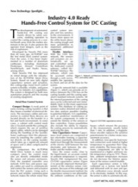 New Technology Spotlight: Industry 4.0 Ready Hands-Free Control System for DC Casting