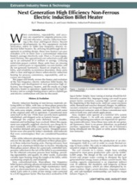 Extrusion Industry News & Technology: Next Generation High Efficiency Non-Ferrous Electric Induction Billet Heater