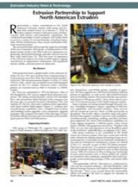 Extrusion Industry News & Technology: Extrusion Partnership to Support North American Extruders
