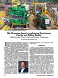JW Aluminum Launches Advanced Continuous Casting and Rolling Facility: Collaboration Ensures Success Despite Challenges