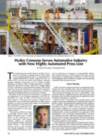 Hydro Cressona Serves Automotive Industry with New Highly Automated Press Line