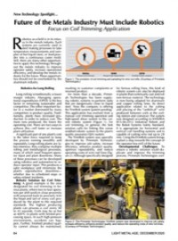 New Technology Spotlight:  Future of the Metals Industry Must Include Robotics Focus on Coil Trimming Application