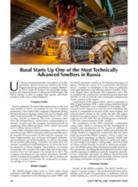Rusal Starts Up One of the Most Technically Advanced
