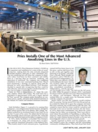 Pries Installs One of the Most Advanced Anodizing Lines in the U.S.