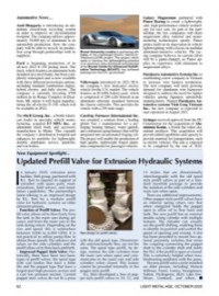 New Equipment Spotlight: Updated Prefill Valve for Extrusion Hydraulic Systems