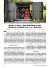 Bridge in a Box: New  Aluminum Bridge Designed for Rapid Emergency Response