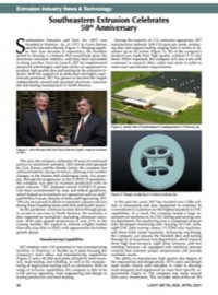 Extrusion Industry News & Technology: Southeastern Extrusion Celebrates 50th  Anniversary
