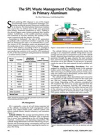 The SPL Waste Management Challenge in Primary Aluminum