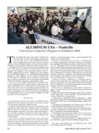 ALUMINUM USA – Nashville: Concurrent Conference Program in Exhibition Hall