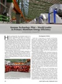 Karmøy Technology Pilot – World Leader in Primary Aluminum Energy Efficiency