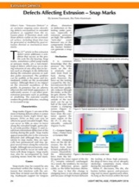 Defects Affecting Extrusion – Snap Marks