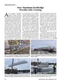 Lightweight Matters: New Aluminum Footbridge Provides Safe Crossing