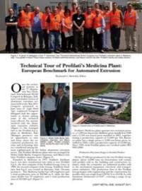Technical Tour of Profilati's Medicina Plant: European Benchmark for Automated Extrusion