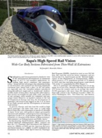 Sapa's High Speed Rail Vision: Wide Car Body Sections Fabricated from Thin-Wall Al Extrusions
