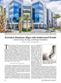 Extruded Aluminum Aligns with Architectural Trends: Greater Energy Savings and Design Possibilities