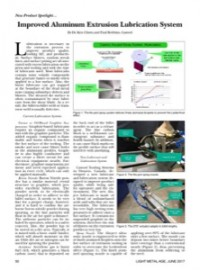 New Product Spotlight: Improved Aluminum Extrusion Lubrication System