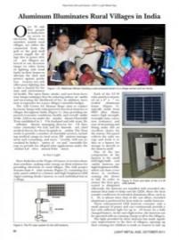 Aluminum Illuminates Rural Villages in India
