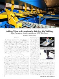 Adding Value to Extrusions by Friction Stir Welding: Sapa Extrusions North America and HFW Join Forces