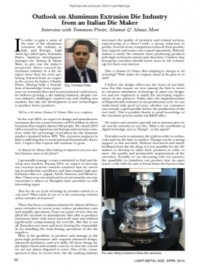 Outlook on Aluminum Extrusion Die Industry from an Italian Die Maker, Interview with Tommaso Pinter, Alumat & Almax Mori
