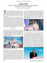 Arabal 2014: Part I – Global Aluminum Outlook and Downstream Industry Growth in Bahrain