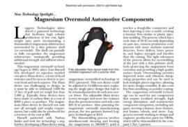 New Technology Spotlight: Magnesium Overmold Automotive Components