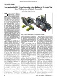 New Process Spotlight: Innovation in SPL Transformation – the Industrial Ecology Way
